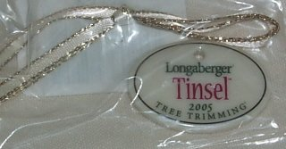 Longaberger Christmas Tree Trimming Tinsel Basket Tie-on
