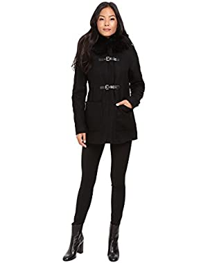 Calvin Klein Women's Fur Trimmed Toggle w/ Oversized Pockets!