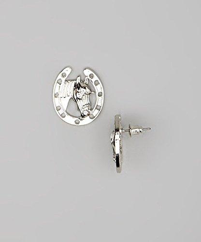 Lux Accessories - Dormeuses Pour Enfants, Filles Fer À Cheval Argent E183858-1-E438