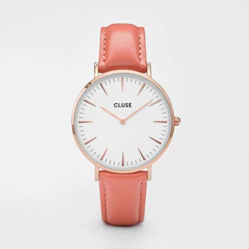 Cluse Reloj Analogico para Mujer de con Correa en Cuero CL18032: Amazon.es: Relojes