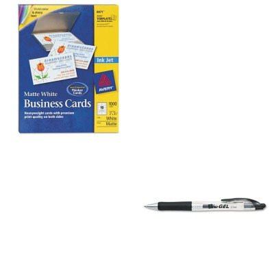 KITAVE49988AVE8471 - Value Kit - Avery Two-Side Printable Business Cards (AVE8471) and Avery eGEL Roller Ball Retractable Gel Pen (AVE49988) by Avery