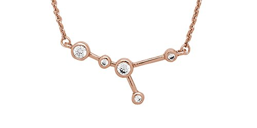 Sterling Forever Women?s Zodiac Necklace - ?When Stars Align' Constellation Necklace, Rose Gold Plated (Cancer)