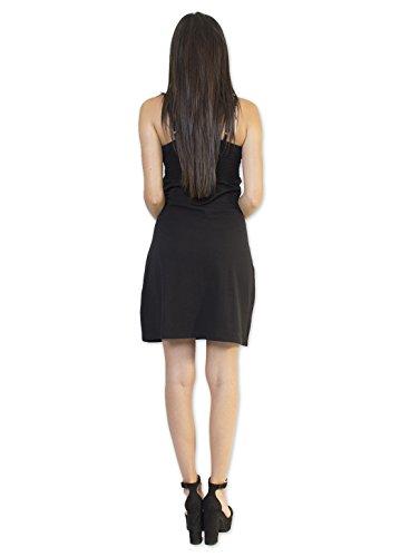 Coton Du Monde-SOKANA vestido, color negro Multicolor