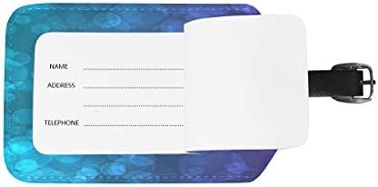 荷物タグ ネームタグ 旅行タグ 紛失防止 新しい 紫と青緑 出張用タグ スーツケースタグ 旅行手荷物 バッグ用ネームタグ スーツケース PUレザー トラベルバッグタグ IDタグ 荷物の荷札 2枚入り 名札ホルダー カバン装飾 目印