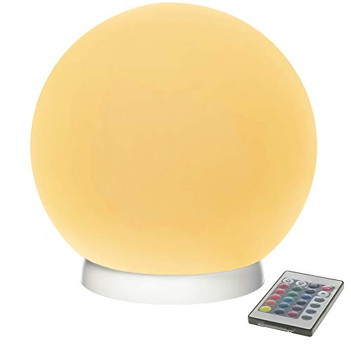 Modern Home LEDGLOWBALL24 Deluxe Floating LED Glowing Sphere with Infrared Remote Control
