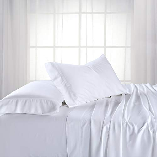 - Royal Hotel ABRIPEDIC Bamboo Sheets, 600 Thread Count, Silky Soft Sheets 100% Viscose from Bamboo Sheet Set, King, White