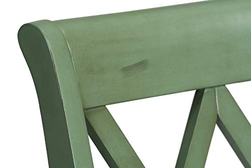 Standard Furniture Vintage Counter Height Stool Distressed Green