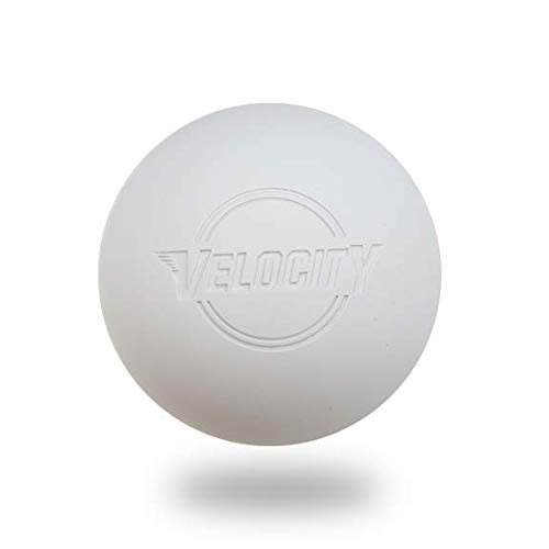 Case(120 Balls) of Velocity Lacrosse Balls. Color: White.
