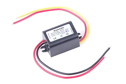 KNACRO DC-DC 12V to 6V 3A Step-Down Power Supply Module Car Power Converter Module Synchronous Buck Over-Temperature Over-Current Short Circuit Protection Suitable for Tachograph car ()