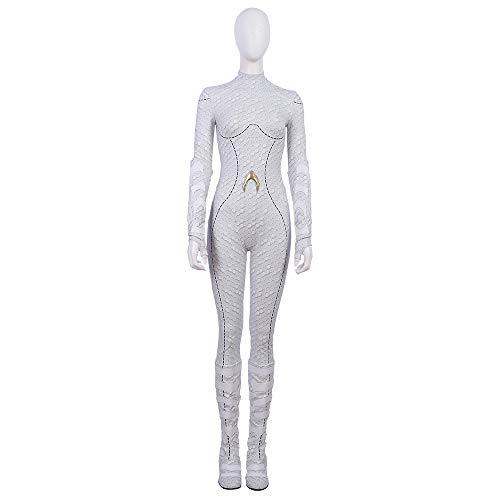 Queen Atlanna White Cosplay Costume Aquaman 3D Print Women Film Queen Atlanna Bodysuit (M)]()