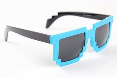Amazon.com: Pixel Glasses 8 Bit Retro Sunglasses Nerd Geek
