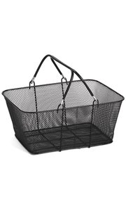 American # 30111, Black Mesh Wire Shopping Baskets, Hand Carry Wire Mesh Shopping Baskets by American Store Supply