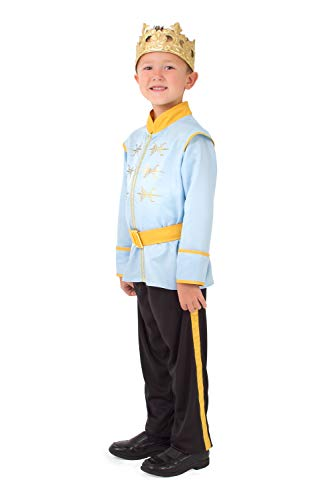 Little Adventures Prince Charming Costume with Soft Crown (Small Age 1-3) Blue]()