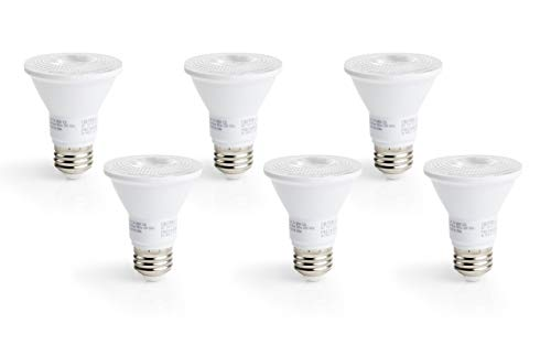 Bakersmith LED PAR20 Dimmable Bulbs - 6-Pack, 3000K, 8W (50W Equivalent), Triac Dimming, 90 CRI, 520 Lumen, E26 Base, Energy Star Certified & UL Listed