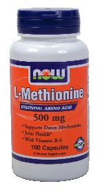 Now Foods L-méthionine, 100 Capsules 500mg / (Pack de 2)