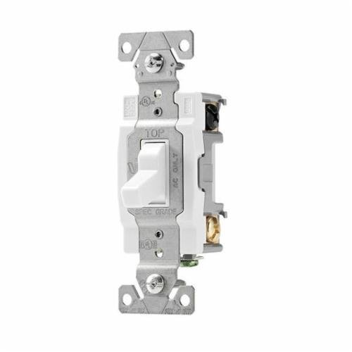 Cooper Wiring Devices CSB320W Switch Tog 3Way 20A 120/277V B/Swire WH ()
