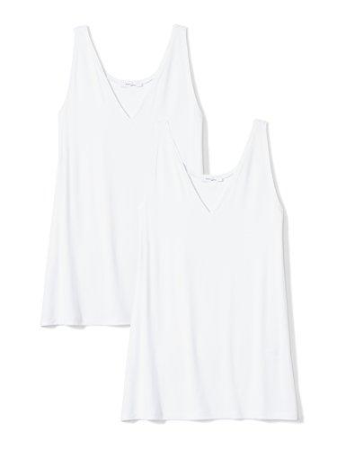 Amazon Brand - Daily Ritual Women's Jersey V-Neck Tank, White/White, XX-Large