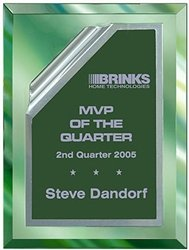 9 x 12 Green Mirror Plaque Engraved with 7 x 10 Green Rolled Plate by Gino's Awards Inc