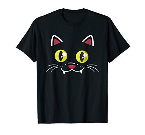 Halloween Cat Face Funny Halloween Costume Shirt -