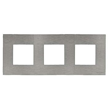 Niessen zenit - Marco 3 elementos serie zenit acero ...