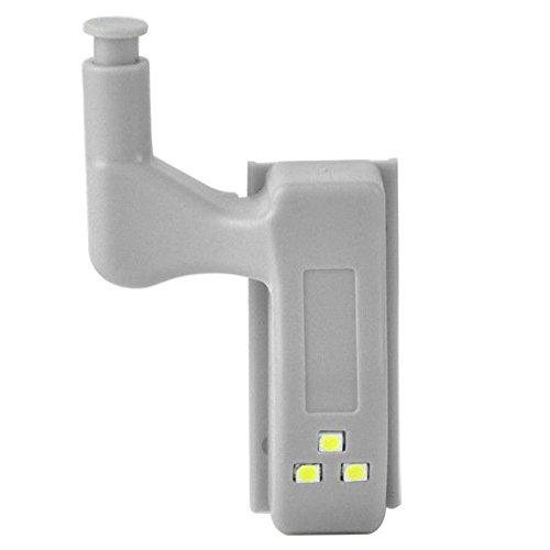 10pcs Universal Cabinet Hinge Indoor Wardrobe LED Light Kitchen Cupboard Sensor Lamp (White)