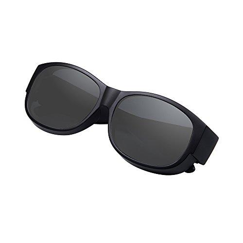4d5a8dc76ea Ewin O02 Polarized Fit Over Sunglasses Prescription Wear Over Glasses for Men  Women Driving Cycling Fishing