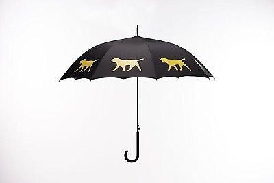 Labrador Retriever Rain Umbrella - Black/Yellow By San Francisco Umbrella Co. by The San Francisco Umbrella Company (Image #1)