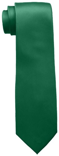 Tommy Hilfiger Men's Skinny Solid Tie, Green, One Size -