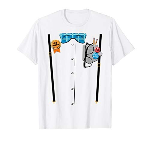 Halloween Nerd Suspenders Plaid Bow Tie Costume -