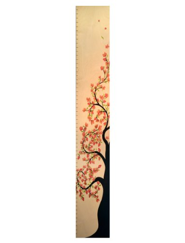 Tall Cherry Blossom Tree of Life Wooden Height Chart, Baby & Kids Zone