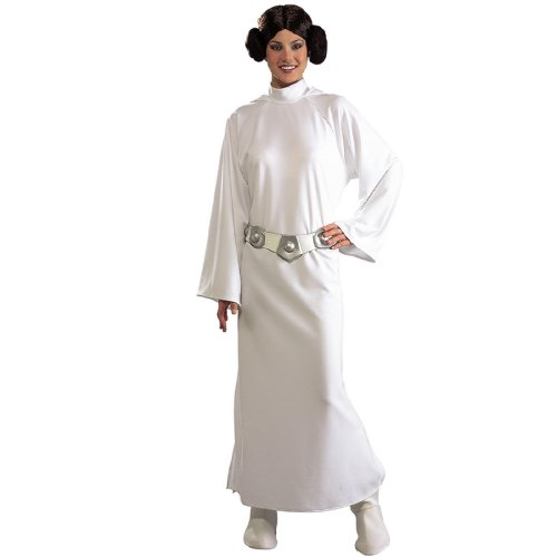 Princess Leia Costumes Adult (Rubie's Women's Star Wars Princess Leia Deluxe Costume, One Size)