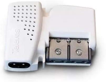 Televes 560542 - Amplificador vivienda 2s 47-790mhz g10/20db ajustable