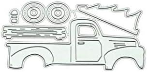 KaMan-Co カッティングダイストラックDIY金属ステンシルスクラップブッキングアルバム紙カードクラフト装飾