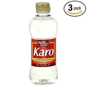 Water Corn Syrup - Karo Light Corn Syrup With Real Vanilla 16 Oz. Pack Of 3.