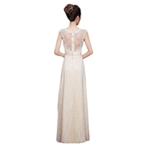 Up Bridal Long Drasawee Dress Lace Elegant Gown Zipper Off Shoulder Formal Champagne Women Long wIqxYIO