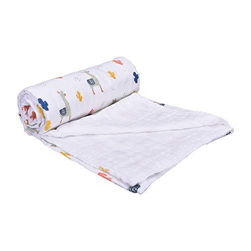 Mom's Home Organic Cotton Baby Muslin 6 Layer Blanket- 0-3 Year-100×100 cm – Elephant