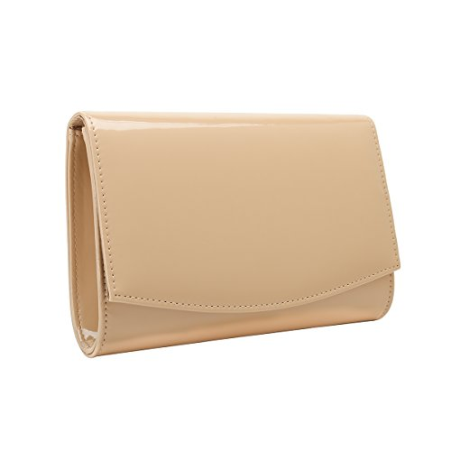 Charming Tailor Patent Leather Flap Clutch Classic Elegant Evening Bag Chic Dress Purse