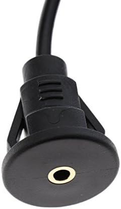 Homyl 車 ボート オートバイ 3.5mm 補助 可聴周波延長ケーブル オスーメス 全2選択 - ブラック, 1メートル