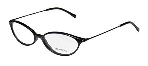 Vera Wang V11 Womens/Ladies Prescription Ready Hip & Chic Designer Full-rim Eyeglasses/Eyeglass Frame (51-16-140, - Men Eyeglasses Black For