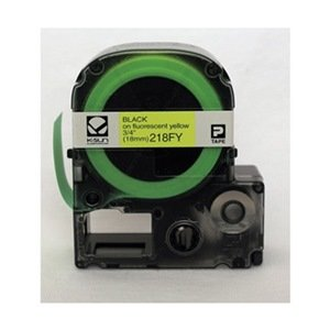 Polyester Labels (Black On Fluorescent) (Labelshop Label Tape)
