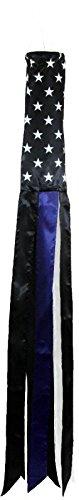 USA THIN BLUE LINE SUPER SHINY POLY WINDSOCK For Sale
