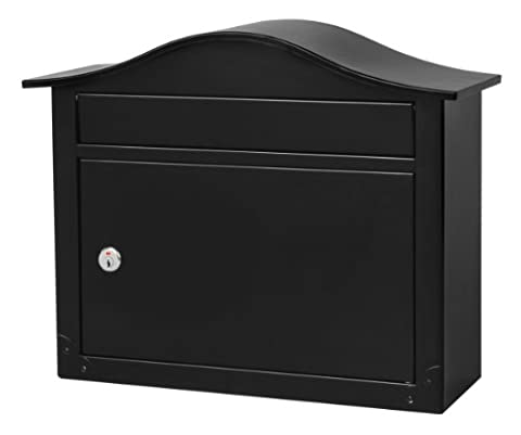 Architectural Mailboxes Saratoga Wall-Mount Lockable Mailbox in Black (Architectural Mailboxes Saratoga)