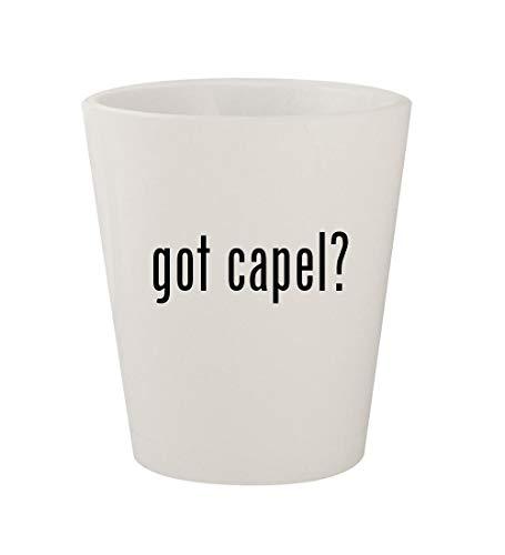 got capel? - Ceramic White 1.5oz Shot Glass