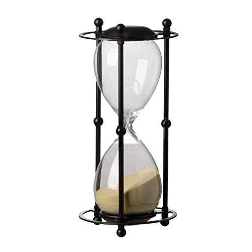 A&B Home 32082-TAN Hour Glass in Stand, 1 Hour, Tan, 6.2 by 12.5-Inch ()