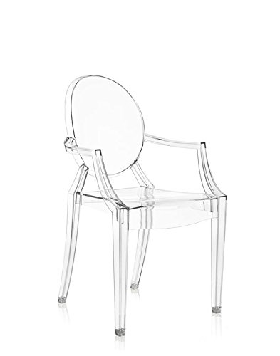 Original Kartell Louis Ghost Arm Chair, Crystal