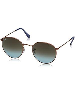 Unisex-Adult Round Metal 0RB3447 Round Sunglasses