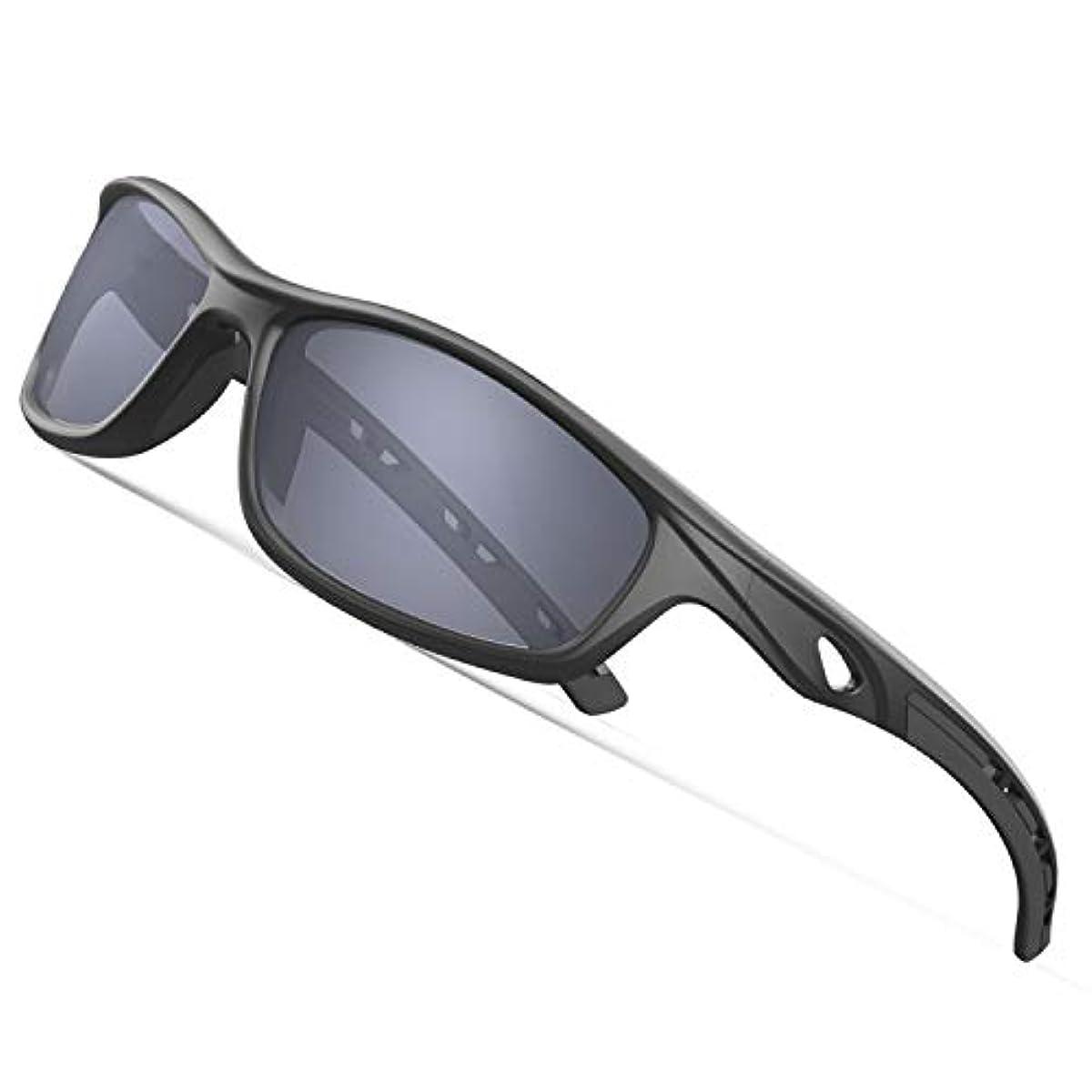 [해외] TOREGE 편광 렌즈 썬글라스 초경량 프레임TR90 UV400 자외선 컷 항충격 남녀 겸용 스포츠 썬글라스/ 자전거/낚시/야구/테니스/스키/런닝/골프/드라이기이브 운동 안경TR08