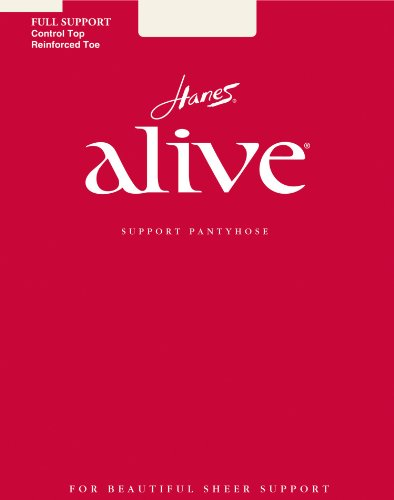 Hanes Alive Full Support Control Top Pantyhose, E, (Hanes Alive Hosiery)