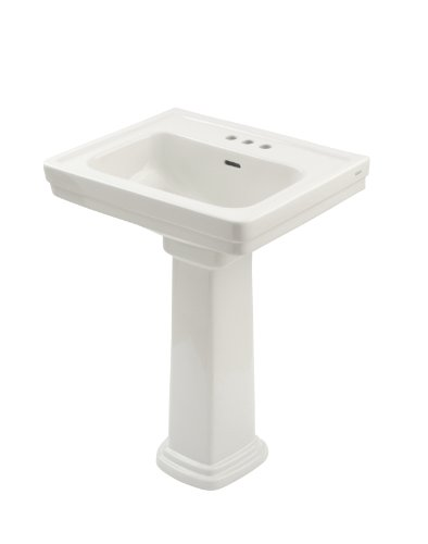 TOTO LPT532.4N#01 Promenade Lavatory and Pedestal with 4-Inch Centers, Cotton White, Deep Bowl