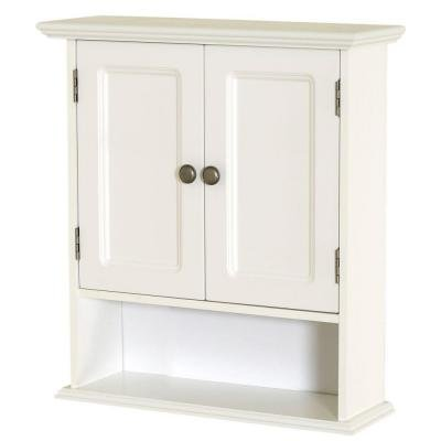 Bathroom Wall Mounted Cabinet in White Collette 21.5 - Zenith Wall Mounted Cabinet
